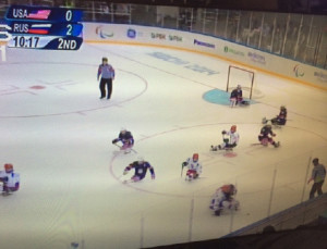 USA vs Russia Hockey image