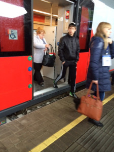 Sochi train platform without ramp