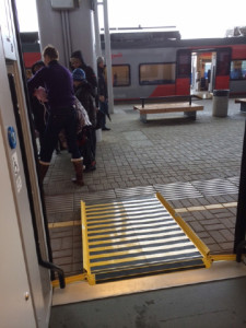 Sochi train platform with ramp