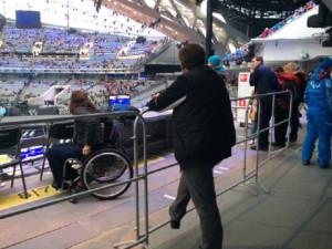 Sochi wheel chair viewing area