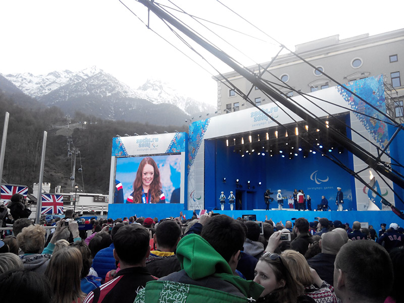 Sochi Paralympic Winter Games Metal Podium