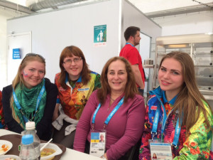 Sally and friends at the Sochi Paralympic Winter Games
