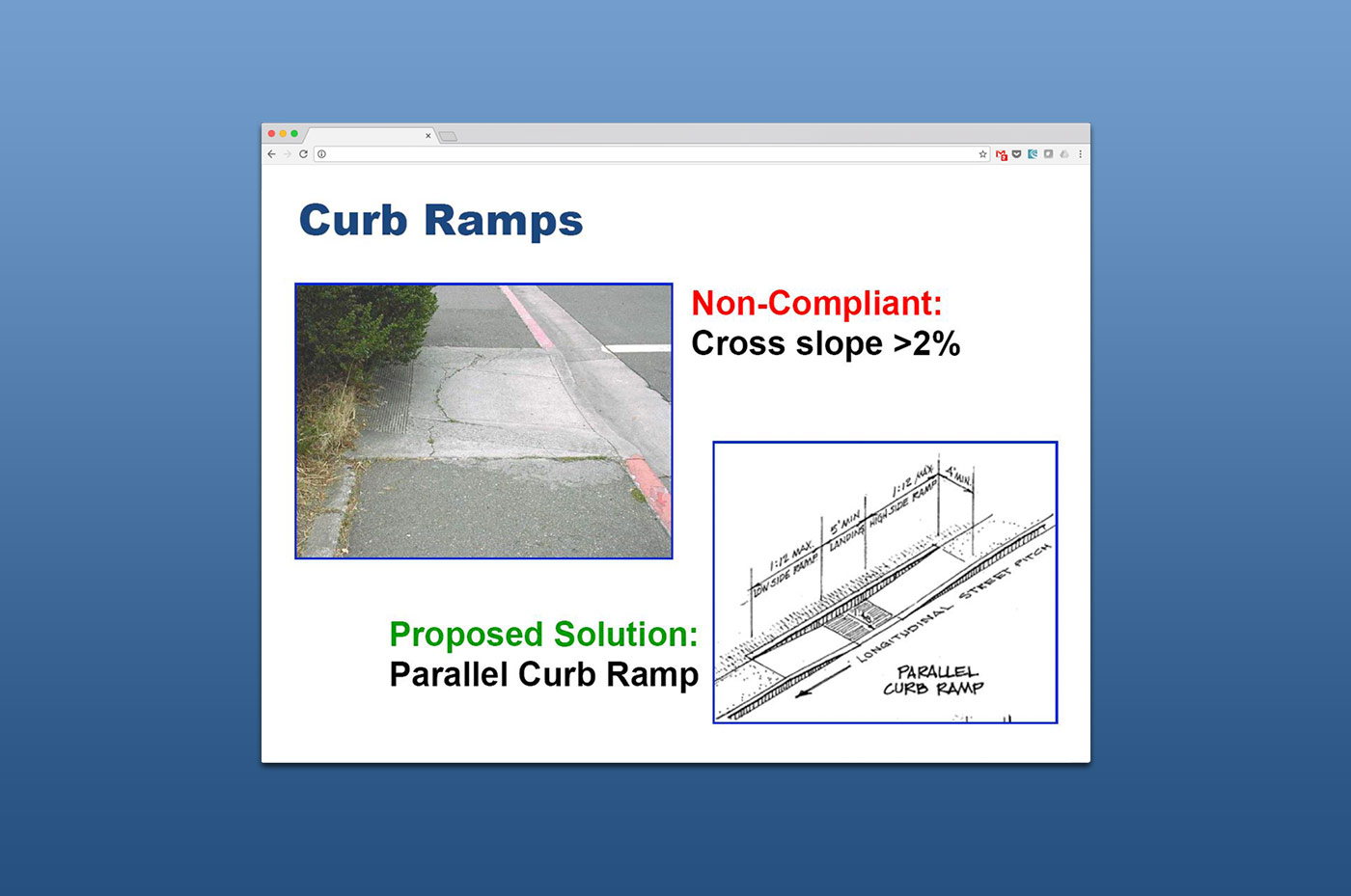 Webinars - Curb Ramps slide 2