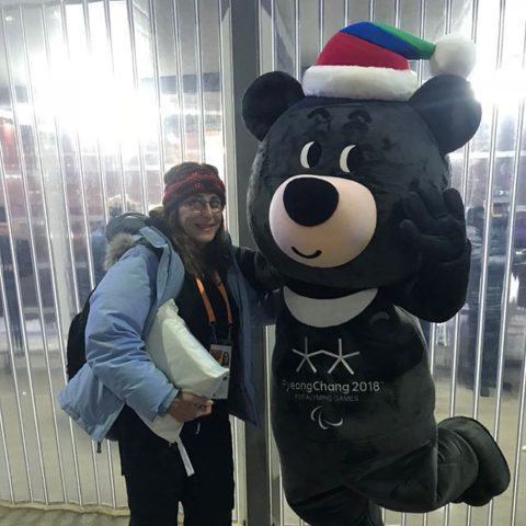 Sally at the 2018 Pyeong Chang Winter Paralympics