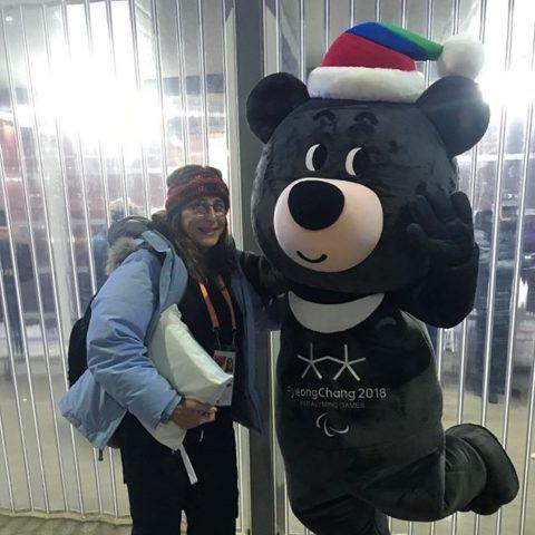 Sally at the 2018 Pyeong Chang Winter Paralympics