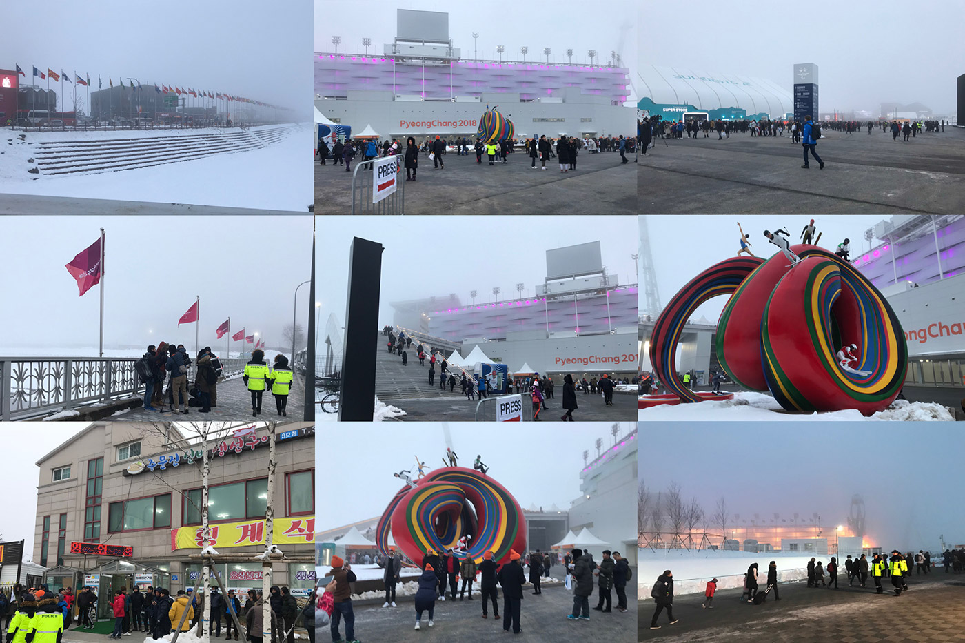 PyeongChang Paralympics 2018 Photo Montage 2 - Olympic Stadium Site